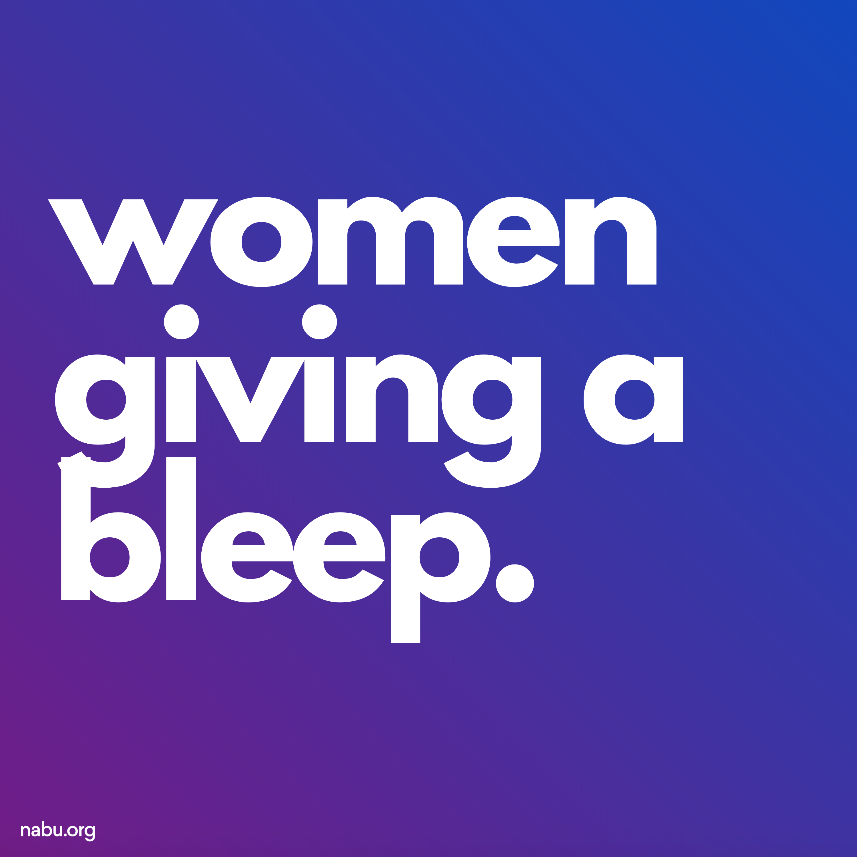 Women Giving a Bleep Podcast